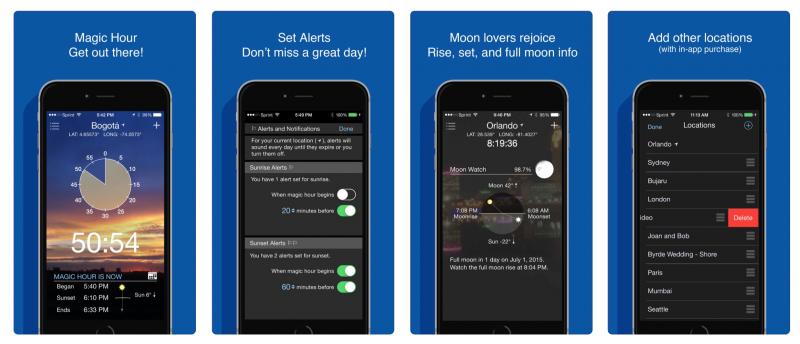 aplikacja do mierzenia złotej godziny